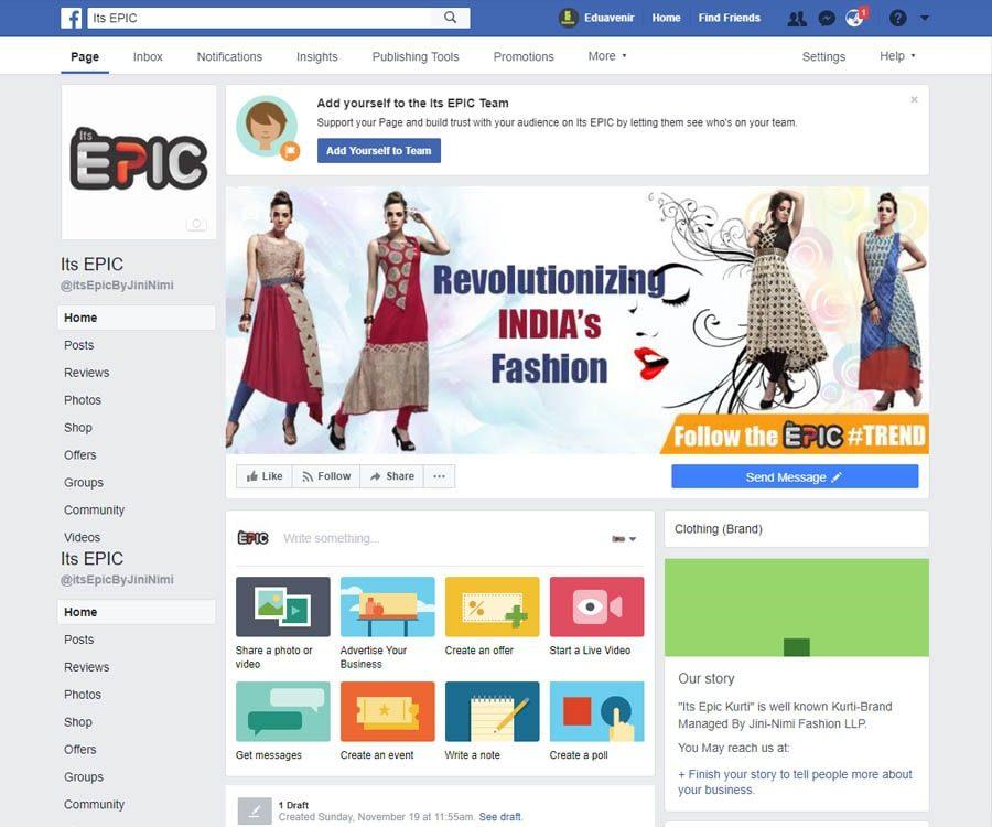 Social Media marketing of its epic by eduavenir.com